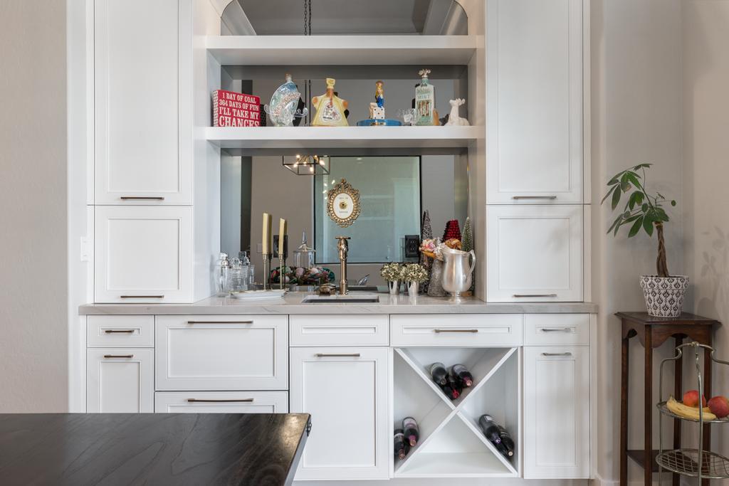 Henderson White Wet Bar Remodel Cabinets