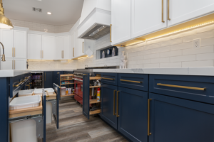 Red white and blue custom cabinet ideas