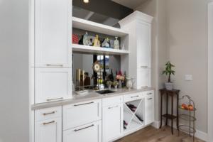 White Wall Unit Custom Cabinets Henderson