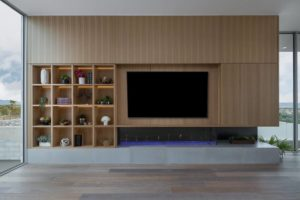 Television storage in living room