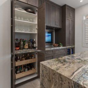 Kitchen liquor storage cabinet